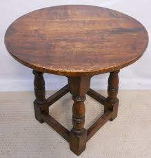 ... Coffee Table, Living Room Furniture Interior Bedroom Small Round  Bedside Table Antique Brown Polished Teak ...