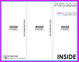 6 Sided Brochure Template Standard Brochure Size Tri Fold Barca Fontanacountryinn Com