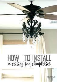 chandelier fan light kit how to install a ceiling tutorial black