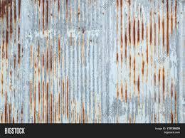 Old Metal Sheet Roof Texture Image Photo Bigstock