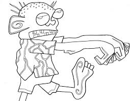 Plants Vs Zombies Coloring Pages Peashooter Fire 2 Peashooters