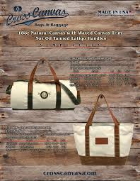cross canvas natural canvas leather with waxed canvas trim catalog