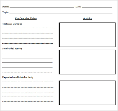 Blank Lesson Plan Templates Blank Lesson Plan Template 11 Download Free Samples Examples
