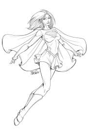 Coloring Supergirl Coloring Pages Free To Print Christmas