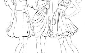 Fresh Barbie Dress Coloring Page For Girls Beautiful Fashion Dress