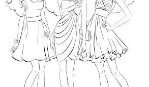 Fresh Barbie Dress Coloring Page For Girls Beautiful Fashion Dress