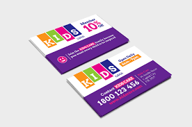 After School Care Business Card Template In Psd Ai Vector
