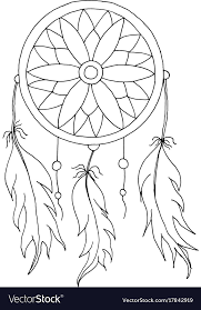 Native Dream Catchers Drawings Best Hand To Draw A Dreamcatcher Royalty Free Vector Image
