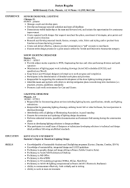 Lighting Designer Resume Samples | Velvet Jobs