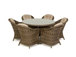 round rattan table and 6 chairs. round rattan table and 6 chairs n