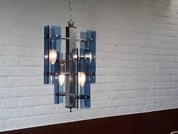 vintage italian blue crystal murano