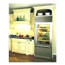 sub zero glass door refrigerator front for home small frosted stainless steel fridge used