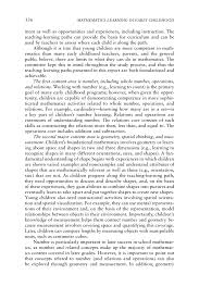 conclusions and recommendations mathematics learning in early page 336