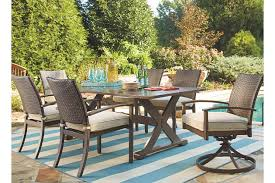 7 piece patio dining set. Moresdale 7-Piece Outdoor Rectangular Dining Set, , Large 7 Piece Patio Set