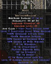 beast runeword beast double axe 255 269 ed diablo 2 items store buy d2 items
