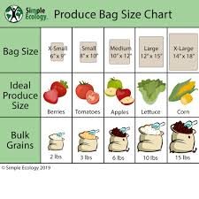 Produce Tote Bag Sizes Simple Ecology