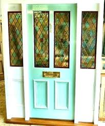 stained glass inserts front door queens for french doors gla