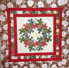 Wreath and Garland Christmas Quilt Pattern for the Lil Twister ... & Wreath and Garland Wall Hanging Quilt for the Lil Twister Ruler Adamdwight.com