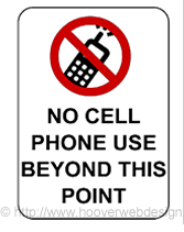 Free Printable No Cell Phone Use Beyond This Point Temporary Sign