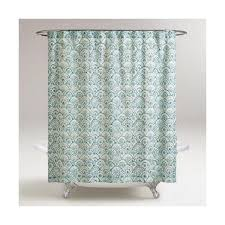 cost plus world market olivia blue scalloped shower curtain 15 liked on polyvore