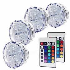 10 leds waterproof led light submersible with remote control