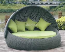Top Outdoor Round Bed Sofa Garden Furniture With fortable