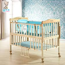 get quotations hi laugh stan crib all solid wood without paint green multifunction cradle variable double bb baby