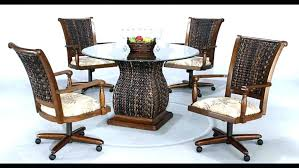 kitchen chairs with wheels chair on casters large size of dining room style dinette chromcraft sets swivel dining chairs with wheels