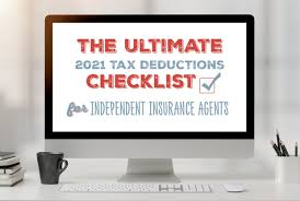 Most insurance policies have a deductible. The Ultimate 2021 Tax Deductions Checklist For Independent Insurance Agents