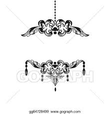 black chandelier silhouette with candles