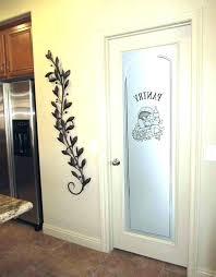 etched pantry door pantry door glass