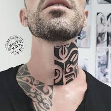 Novytattoo Handmade على تويتر Neck Tattoo Polynesianart