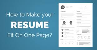 How To Make A One Page Resume How To Fit Resume On One Page 25 Best Suggestions Wisestep