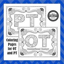 Printable drawings and coloring pages. Ot And Pt Coloring Pages Your Therapy Source