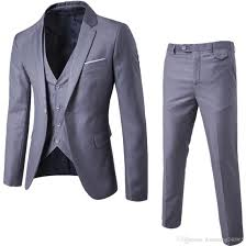 Slim Fit Suits Designer 2019 2018 New Fashion Designer Men Suit Groom Tuxedos Groomsmen Side Vent Slim Fit Best Man Suit Wedding Mens Suits Bridegroom Jacket Pant Vest From