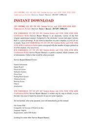 Jcb 509 42 Load Chart Jcb 509 42 Service Manual