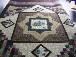 196 best Quilts con paneles images on Pinterest | Quilt patterns ... & Northwoods quilt by Bobbielinks from the quiltingboard.com Adamdwight.com