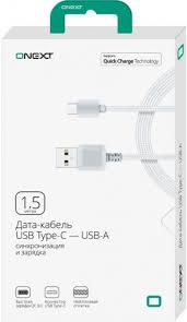 Дата-кабель <b>Onext USB</b> Type-C-<b>USB</b>-A 1,5м Dark Grey - цена на ...