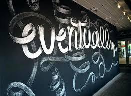 blackboard wall art chalk chalkboard mural by fall