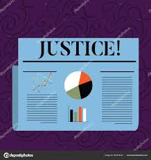 Justice Stock Chart Text Sign Showing Justice Conceptual Photo Quality Of Being