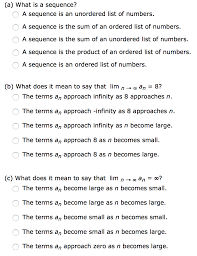 Solved What Is A Sequence A Sequence Is An Unordered Lis