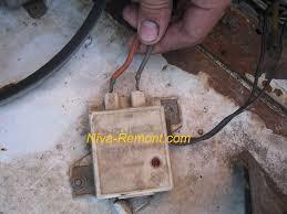 Где находится реле контрольной лампы заряда аккумуляторной батареи  Узор мех