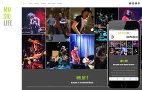 Music Website Templates Custom Music Web Templates W28layouts