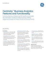 Business Analytics Solution Brochure