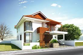 Glamorous Modern House Exterior Front Designs Ideas With Balcony - Interior and exterior design of house
