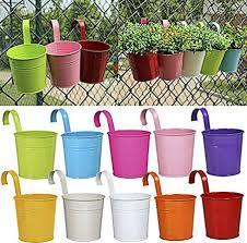 10pcs set colorful hanging flower pot