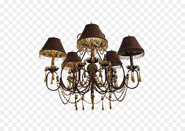 chandelier ceiling light fixture painted gold foil