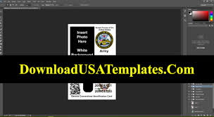 Military Editable Id File Us Template Card fake