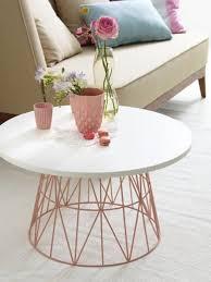 lightweight wire basket tables diy
