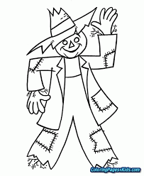 printable scarecrow coloring page